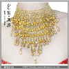Supply low price belly dancing necklace,women graceful bell & bead belly dance accessories