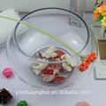 Tanque circular de cristal para peces, acuario