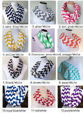 Wholesale Zig Zag jersey chevron infinity scarf in stock