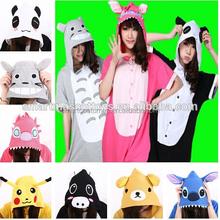Hot sale breathable Plus size animal onesie flannel adult pajamas wholesale