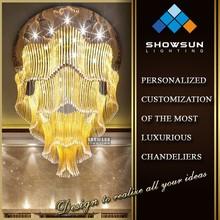 Beautiful large glass tube modern chandelier for restaurant