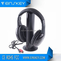 2014 new products on market 5 in 1 headphone high quality bulk buy from China Bluetooth Headset 7.1 Wireless Headphone