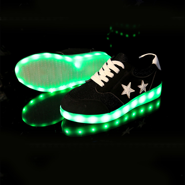 black led light up dress shoes casual fashion for