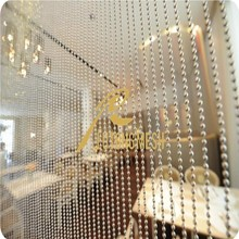 Decorative partitions metal bead curtain for bedroom