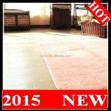 2015 machine wash pure silk polyester shaggy carpet
