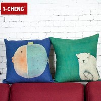 Funny Kids Pad room Printed Cushion Home Sofa Decorative Pillow Cover Car Seat Cushion Cover