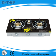 Cheap price high quality portable 3 burner gas stove,India burner gas stove 2 year warranty