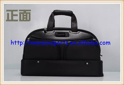fashionable design water proof shoulder strap,carrying handles leather travel golf carry bag