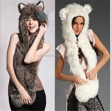 Hot Sale Winter Animal Hat Scarf Gloves Hood Scarf Animal Winter Hat