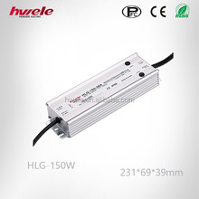 Waterproof LED switching power supplier HLG-150W adjustable AC-DC 54v 6.3A with SGS,CE,ROHS,TUV,KC,CCC certification