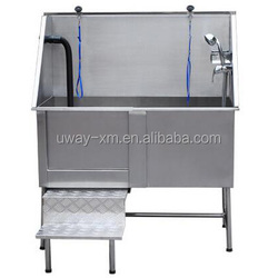 High quality stainless steel dog bathtub with ramp