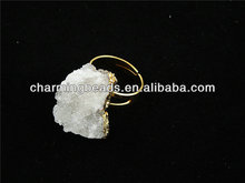 CH-JCR0018 new style crystal quartz stone rings with gold plating,adjustable jewelry rings,fashion rings