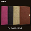 Xundd Genuine Leather Flip Wallet Cover Case For iPad Mini 1 2 3,For iPad Mini Case