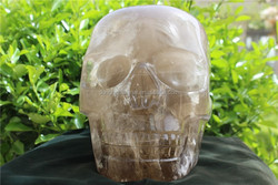Wholesale Crafted Smoky Clear Quartz Rock Carved Huge Size Crystal Skull