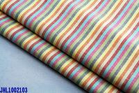 yarn dyed rainbow stripe linen cotton fabric
