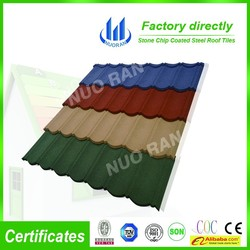 antique metal roof tiles / black metal roofing / better than stone metal shingles blue / colorful stone chip coated steel roof