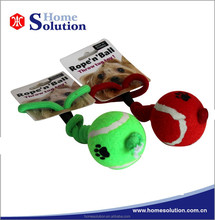 Cotton cat toys twist rope with a ball for throwing pet hot selling products 2015