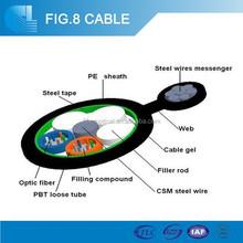 2~ 12 core HDPE/ MDPE Fiber Optic figure 8 Cable GYXTC8S