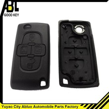 yuyao Abluo new product cover for peugeot 4 Buttons Remote Flip Key blank