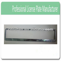 plastic scrolling led custom license plate frame