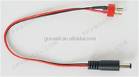 5.5mm DC Connector with T Plug Male with 18AWG Wire