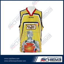 Sublimation basketball jersey/ fashion basketball team wear wholesale