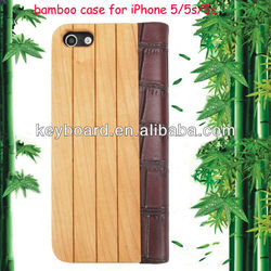 New arrival factory wholesale original designed cheap bamboo mobile phone case for iphone5