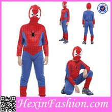 Red and Blue Boy Spider Kids Party Animal Costume for Halloween Suppliers Wholesale