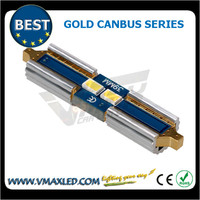 Brand new festoon 31/36/39/42mm 100LM 2*3623SMD gold error free non-polarity led car lamp led brake light bar