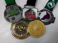 63.5mm zinc alloy plating custom sports award medals with 3D pattern