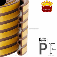 E ,D,P,I type epdm rubber door seal strip with adhesive