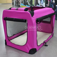 Pet soft crate dog stainless steel cage Foldable dog carrier
