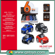 2015 new fantastic Q alloy pull back car with EN71