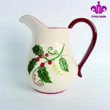 Wholesale ceramic christmas milk jug,ceramic water container