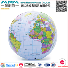 inflatable world map beach ball customized size giant for promotion