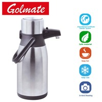 Penguen Shape Hot Promotion Stainless steel thermos insulated isolation vacuum airpot, pump pot, air pot, coffee pot 2L,2.5L,3L