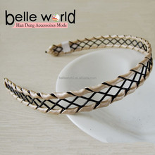 fashion multicolour metal with leather hair bands