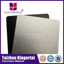 Advanced Alucoworld ACP high strength pvdf brushed coated exterior wall covering