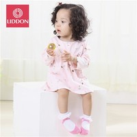 100% organic cotton terry-loop lace baby socks for infant