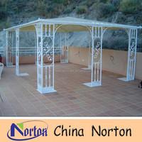 white garden wrought iron gazebo/cast iron pergola NTIG-016S