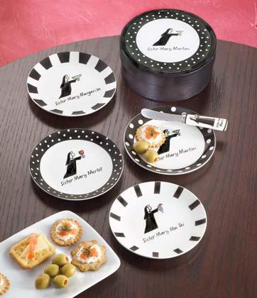 Santa barbara 4 pcs nun road canape plates buy porcelain for Canape user manual
