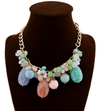 Europe and America Brand Fashion Jewelry Exquisite Color Layers Crystal Necklace