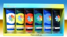 Non-toxic water color paint 12ml 6color/water color