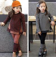 D93993T 2014 AUTUMN NEW DESIGN FASHION CASUAL CHILDREN SET CLOTHING /GIRL CLOTHES