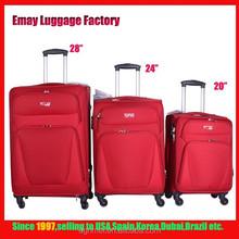 Spinner wheels new design nylon trolley Luggage Bag Set
