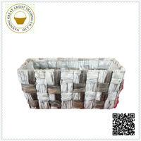 Wholesale folk art hyacinth rectangle basket