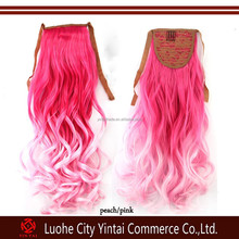 Wholesale price noble synthetic hair weaving Two Tone Hair pieces kanekalon hair weft/curly