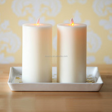 """Home Accessories Moving Flame Flat Top Flameless 7"""" Pillar Candle with Timer, Set of 2"""