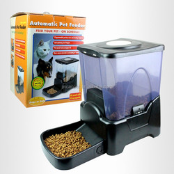 Large Automatic Pet Feeder Electronic Programmable Portion Control Dog Cat Feeder / LCD display
