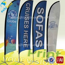 Hot sale & cheap flag banner display,customized logo printing for advertising,outdoor beach flag
